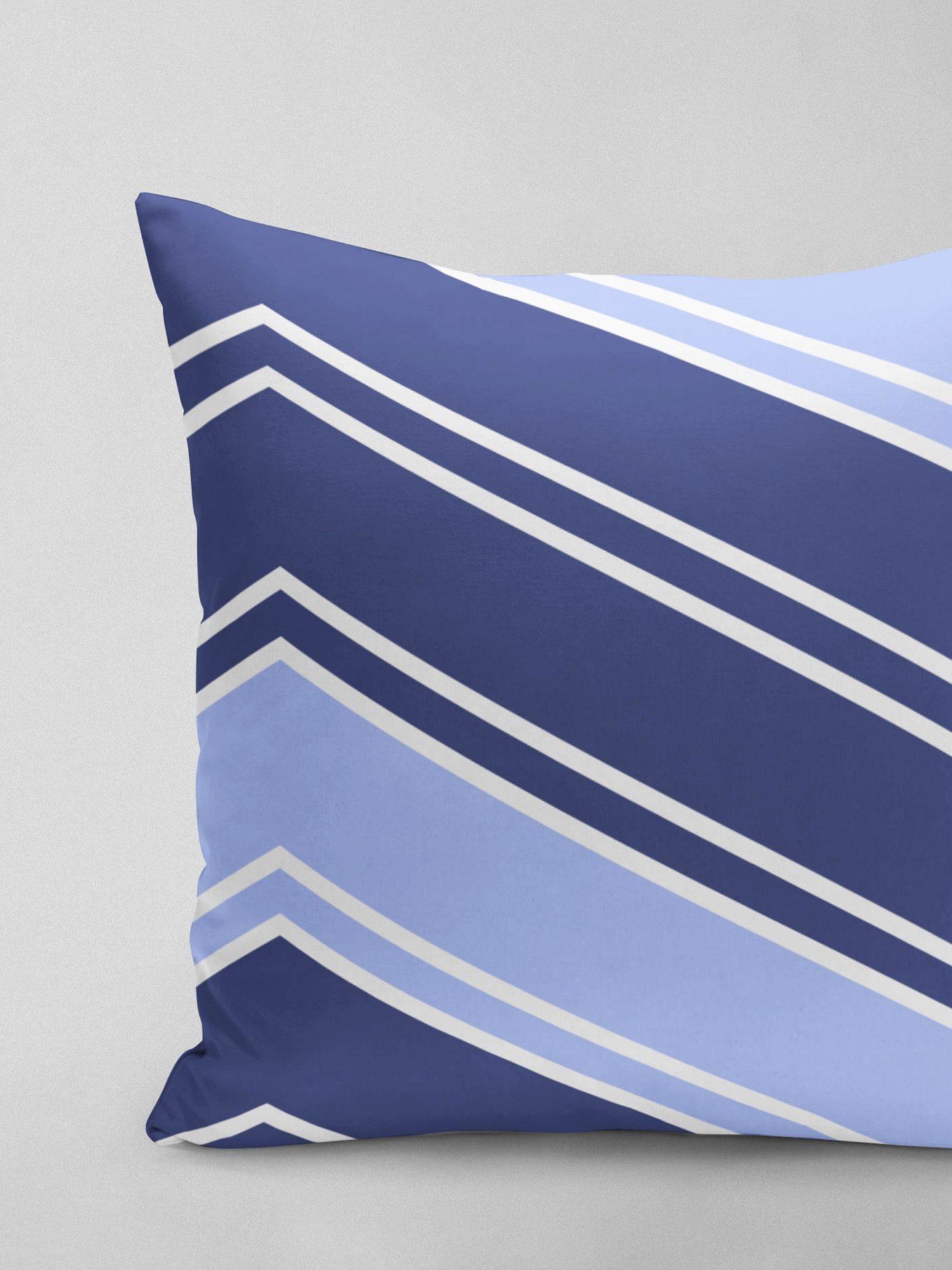 ZigZag | Linen | Blue