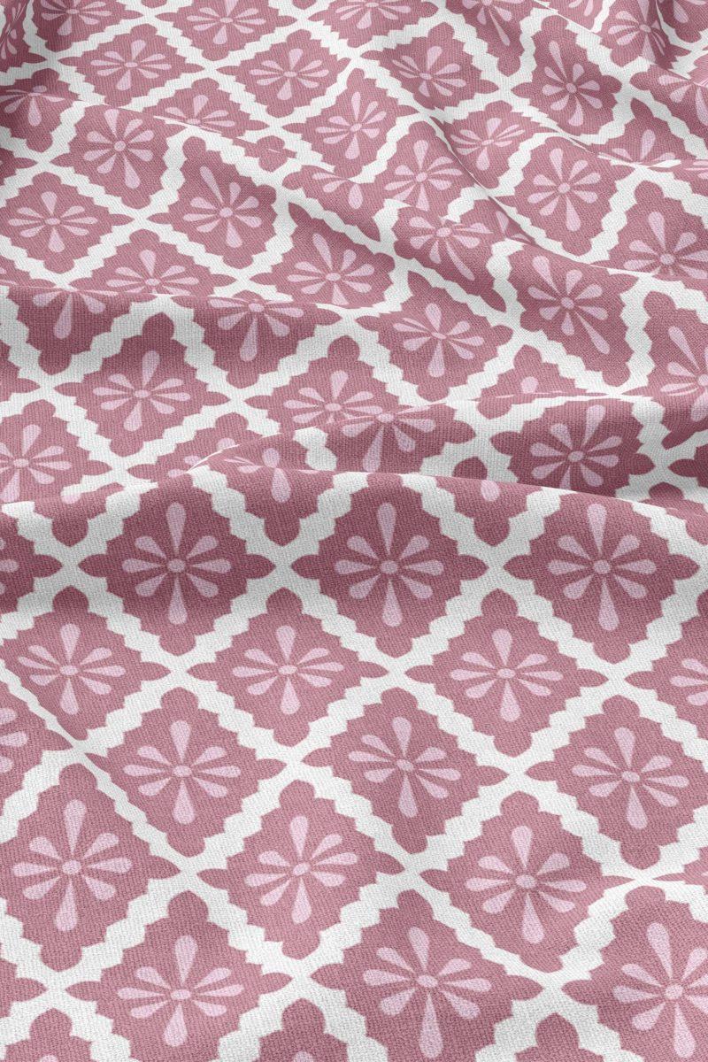 Diamond   Linen   Pink