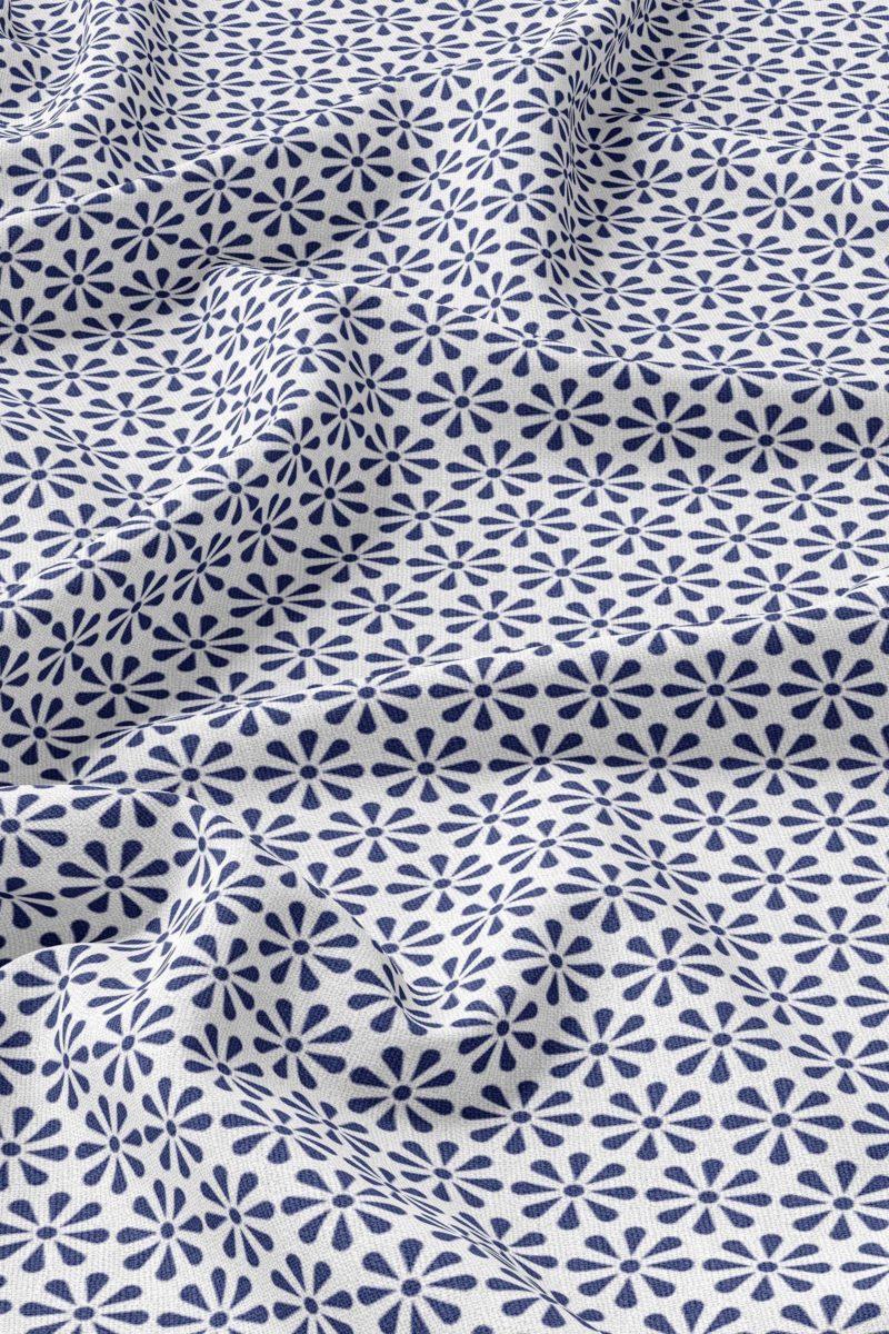 Flower | Linen | Blue